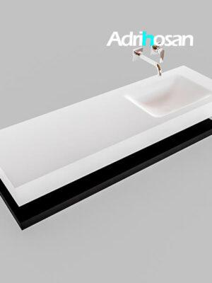 Badmeubel met solid surface wastafel model Google ALAN wit planchet mat zwart0018 1