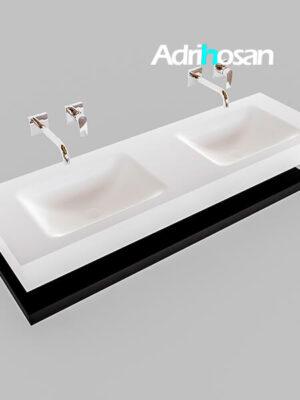 Badmeubel met solid surface wastafel model Google ALAN wit planchet mat zwart0019 1