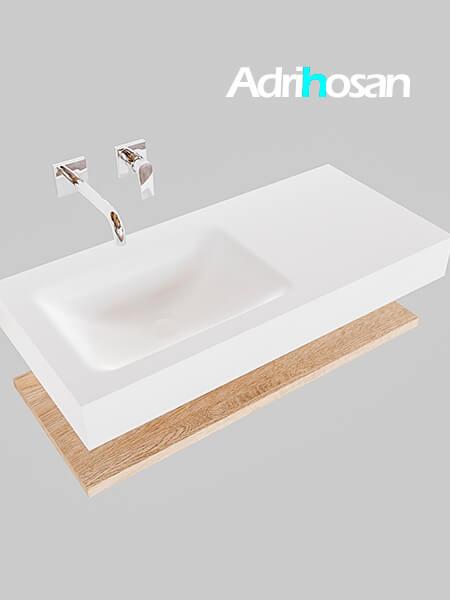 Badmeubel met solid surface wastafel model Google ALAN wit planchet washed oak0003 1