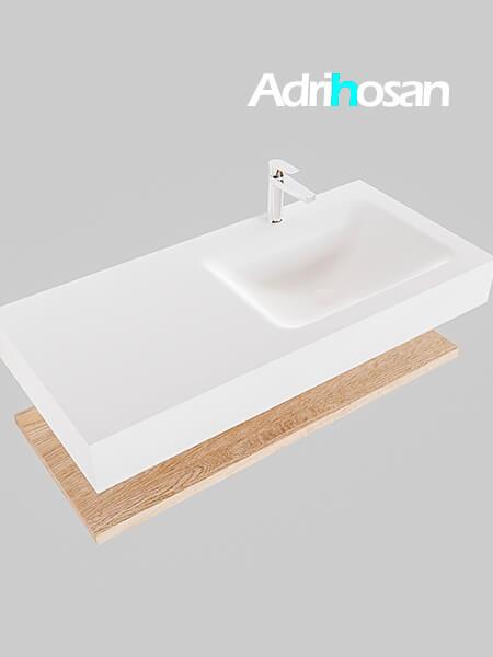 Badmeubel met solid surface wastafel model Google ALAN wit planchet washed oak0007 1