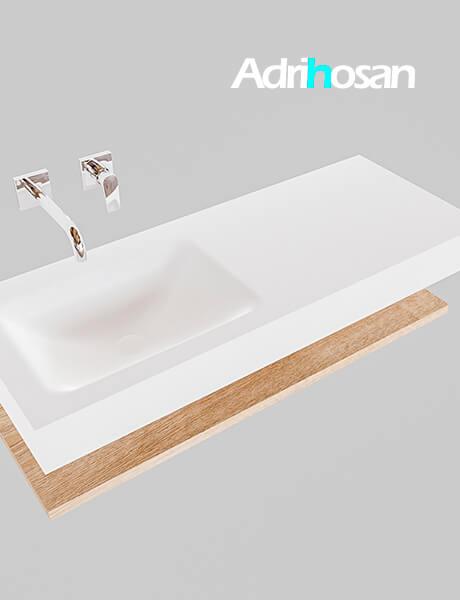 Badmeubel met solid surface wastafel model Google ALAN wit planchet washed oak0009 1