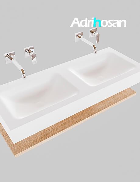 Badmeubel met solid surface wastafel model Google ALAN wit planchet washed oak0011 1