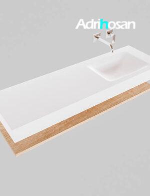 Badmeubel met solid surface wastafel model Google ALAN wit planchet washed oak0018 1