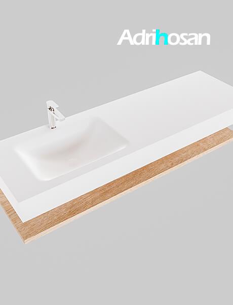 Badmeubel met solid surface wastafel model Google ALAN wit planchet washed oak0021 1