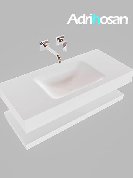 Badmeubel met solid surface wastafel model Google ALAN wit planchet wit0002 1