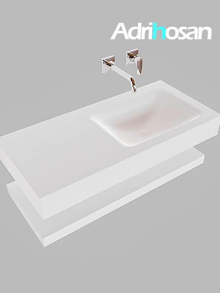 Badmeubel met solid surface wastafel model Google ALAN wit planchet wit0004 1