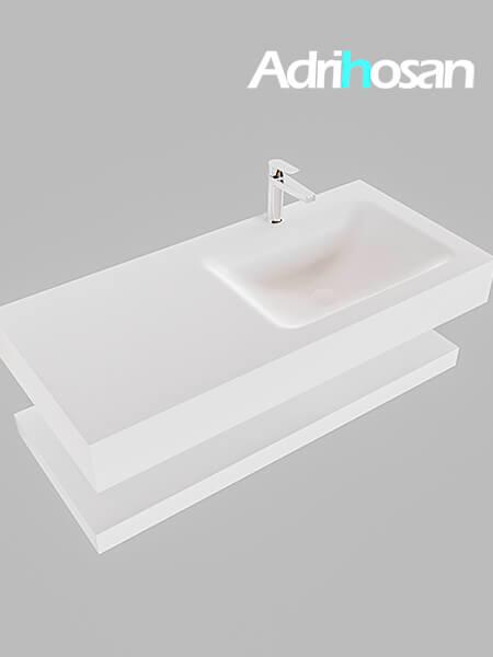 Badmeubel met solid surface wastafel model Google ALAN wit planchet wit0007 1