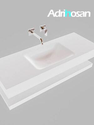 Badmeubel met solid surface wastafel model Google ALAN wit planchet wit0008 1