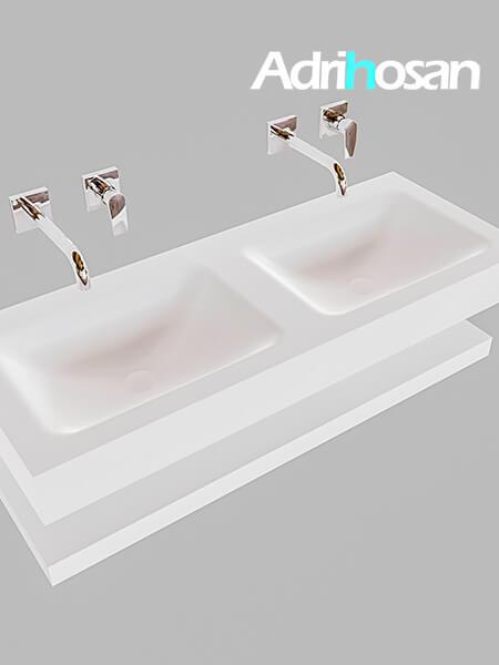 Badmeubel met solid surface wastafel model Google ALAN wit planchet wit0011 1