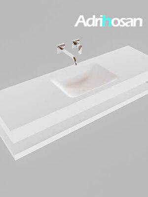 Badmeubel met solid surface wastafel model Google ALAN wit planchet wit0016 1