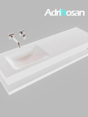 Badmeubel met solid surface wastafel model Google ALAN wit planchet wit0017 1
