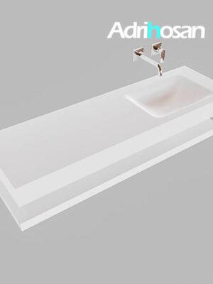 Badmeubel met solid surface wastafel model Google ALAN wit planchet wit0018 1