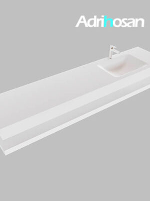 Badmeubel met solid surface wastafel model Google ALAN wit planchet wit0046 1