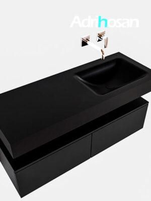 Badmeubel met solid surface wastafel model Google ALAN zwart kast mat zwart0026 1