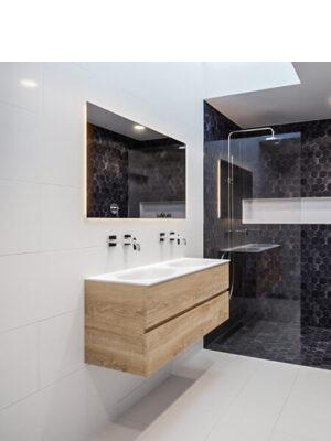 Mueble de baño suspendido Vica 80 2 cajones