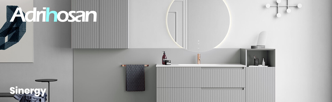 Muebles de baño suspendidos Sinergy de Fiora.