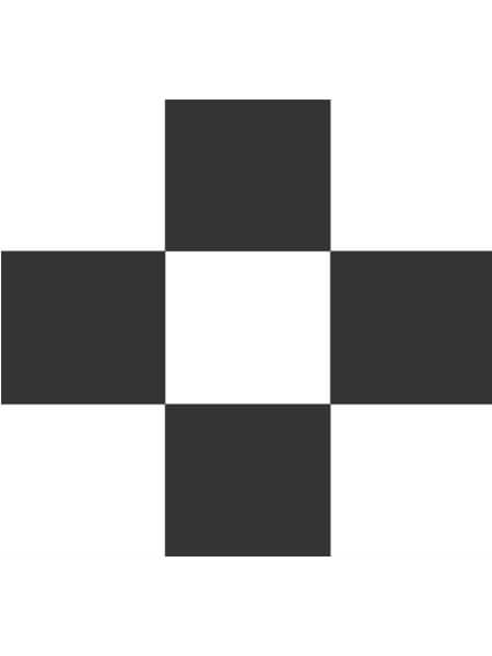 Pavimento porcelánico formas geométricas Flower negro 15x15 cm (0,95 m2/cj)