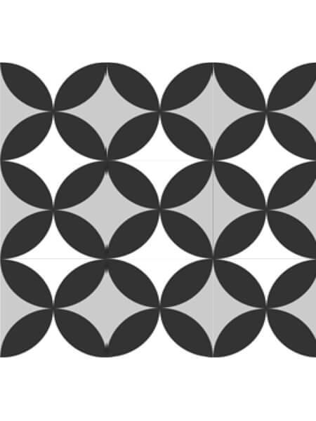 Pavimento porcelánico formas geométricas Flower Pétalos 15x15 cm (0,95 m2/cj)