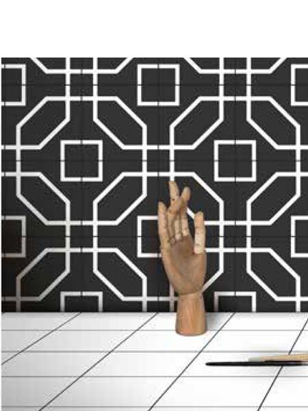 Pavimento porcelánico formas geométricas Flower Portland 15x15 cm (0,95 m2/cj)
