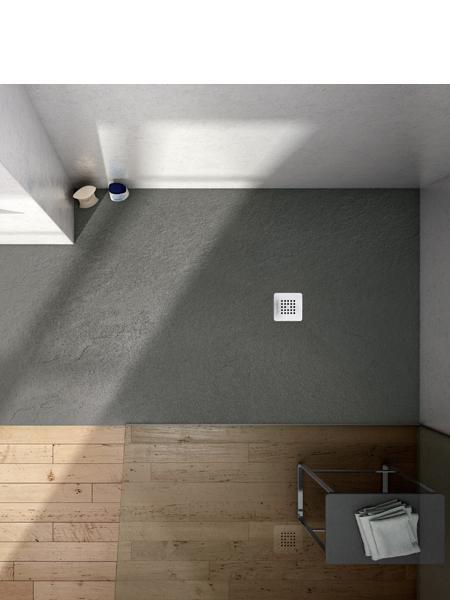 Plato de ducha textura slate base aquabella 200x120x3 cm