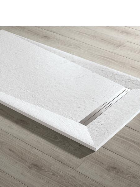 Plato de ducha textura Slate Prisma acquabella 200x100x3 cm
