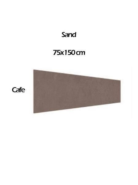 Pavimento porcelánico rectificado técnico Pira Sand Café 75x150 cm (0.84 m2/cj)