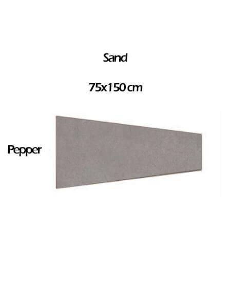 Pavimento porcelánico rectificado técnico Pira Sand Pepper 75x150 cm (0.84 m2/cj)