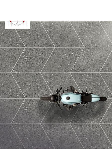 Pavimento porcelánico rectificado técnico Romo Moon Black 70x120 cm