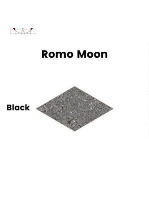 Pavimento porcelánico rectificado técnico Romo Moon Black 70x120 cm.