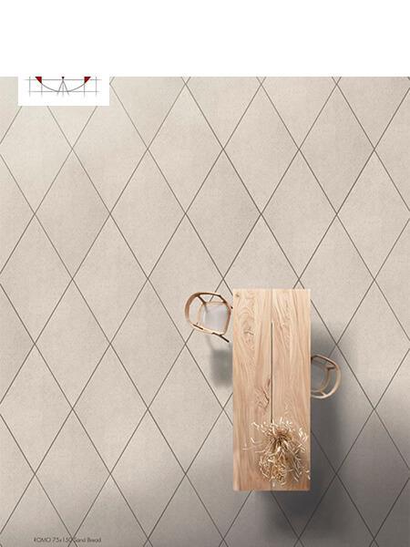 Pavimento porcelánico rectificado técnico Romo Sand Bread 85x150 cm.