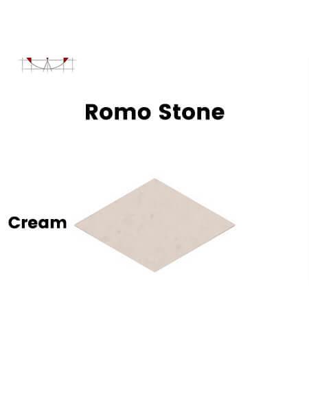 Pavimento porcelánico rectificado técnico Romo Stone Cream 70x120 cm