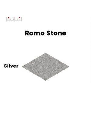 Pavimento porcelánico rectificado técnico Romo Stone Silver 70x120 cm.
