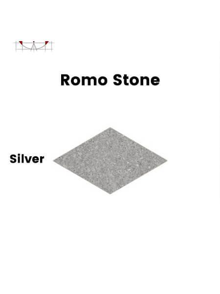 Pavimento porcelánico rectificado técnico Romo Stone Silver  70x120 cm