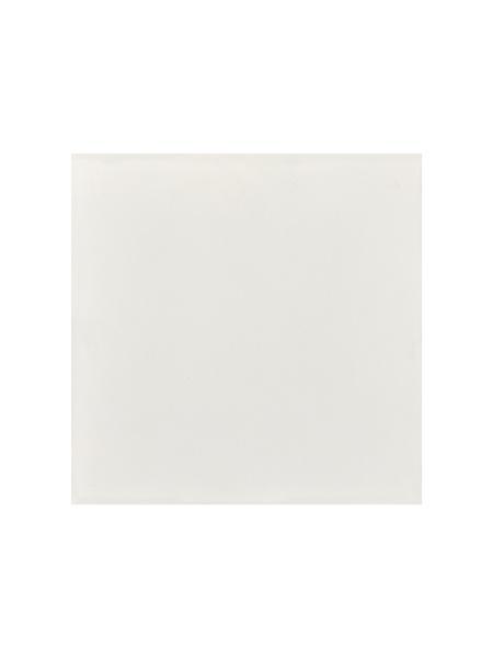 Baldosa hidráulica mecánica blanco 20x20x1.4 cm cemento pigmentado.