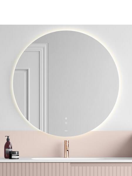 Espejo retro iluminado de baño moon de Fiora.