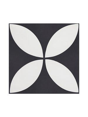 Baldosa hidráulica mecánica karala 20x20x1.4 cm cemento pigmentado. azulejo artesanal para estilos rústicos o modernos.