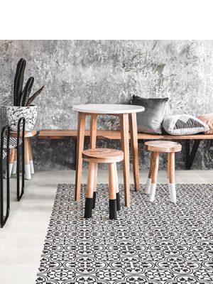 Baldosa hidráulica mecánica wood 20x20x1.4 cm cemento pigmentado. azulejo artesanal para estilos rústicos o modernos.