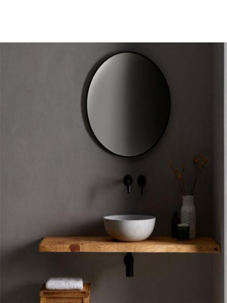 Lavabo cemento redondo wood 37 x 37 x 12 cm