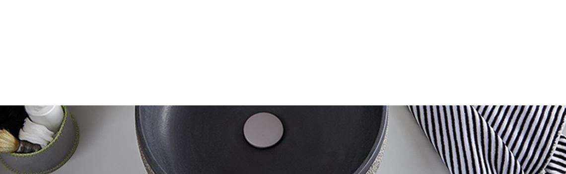 Lavabo mármol redondo negro calima 42 x 42 x 15 cm. Lavabo de mármol cortado de forma tradicional, Piedra 100% natural. El exterior es liso.