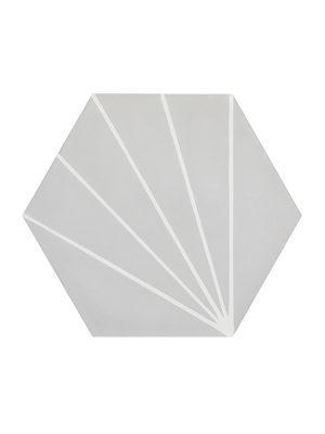 Baldosa hidráulica mecánica dadi 20x20x1.4 cm cemento pigmentado.