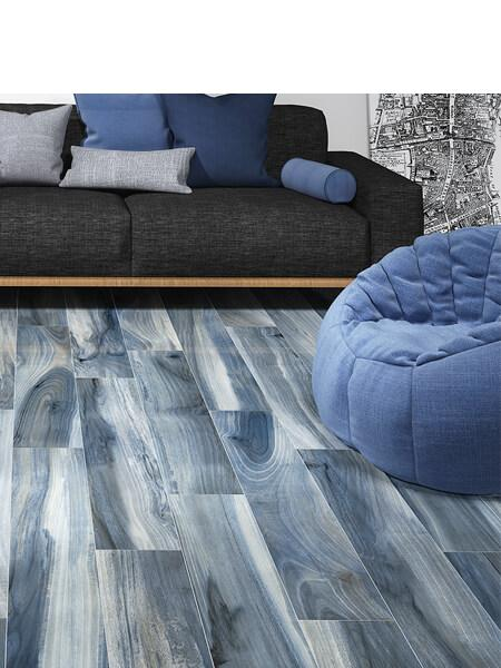 Pavimento porcelánico rectificado alto brillo Taz Rain 20x120 cm (1.44 m2/cj)