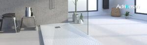plato de ducha poliuretano gel coat decorado canvas 1 1