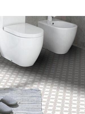 Suelo hidráulico 3F 20x20x1.6 cm de cemento pigmentado.