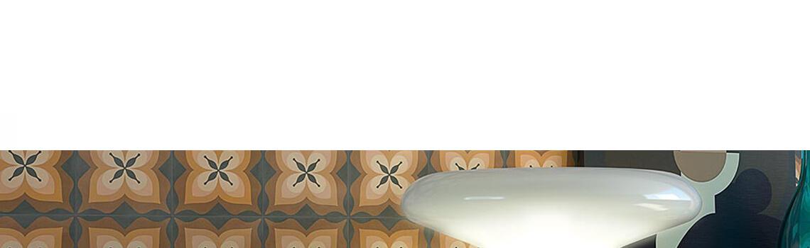 Pavimento porcelánico Pop tile Sixties-R Bethel 15x15 cm. Una serie de azulejos que evocan el estilo pop up de los años 60.