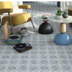 Pavimento porcelánico Pop tile Sixties-R Cavern 15x15 cm. Una serie de azulejos que evocan el estilo pop up de los años 60.