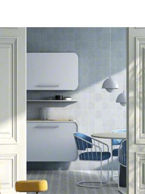 Pavimento porcelánico Pop tile Sixties-R Ocre 15x15 cm. Una serie de azulejos que evocan el estilo pop up de los años 60.