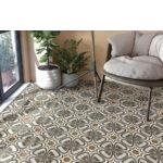Pavimento porcelánico Pop tile Sixties-R Marquee 15x15 cm. Una serie de azulejos que evocan el estilo pop up de los años 60.