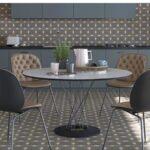 Pavimento porcelánico Pop tile Sixties-R Saville 15x15 cm. Una serie de azulejos que evocan el estilo pop up de los años 60.
