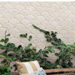 Azulejo porcelánico escama pez Scale Slate Ivory 30.7x30.7 cm. Una escama de pez porcelánica que te encantará.