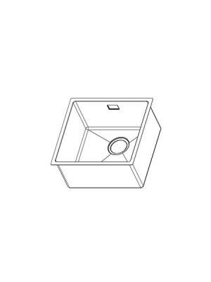 Fregadero de Acero cepillado Pirita de 1 seno.